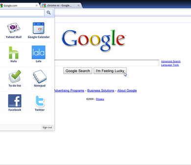 800px Chrome OS screenshot sdres 0001 App Menu 390x338 - Chrome OS : Buzz / No Buzz