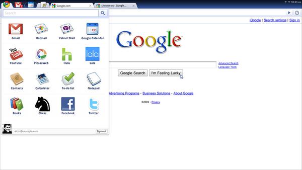 800px Chrome OS screenshot sdres 0001 App Menu - Chrome OS : Buzz / No Buzz