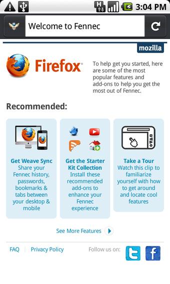 fennec n1 - Télécharger Firefox Fennec pour Android