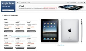 iPad2 300x176 - iPad - Un prix incroyable (sic !)