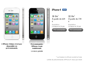 Pre commande iPhone 4