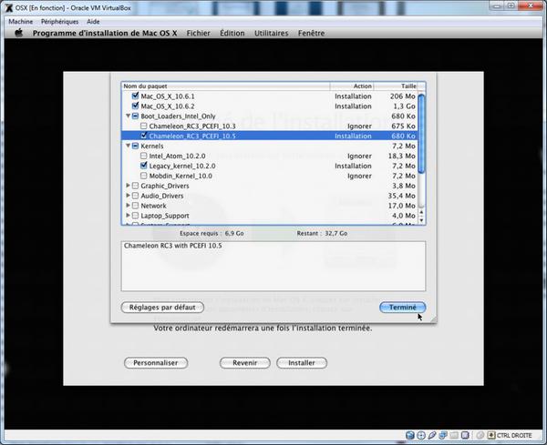Choix Kernel - VirtualBox – Mac OS X sur votre PC (Windows)