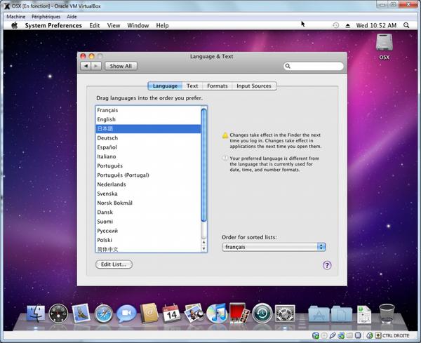 International1 - VirtualBox – Mac OS X sur votre PC (Windows)