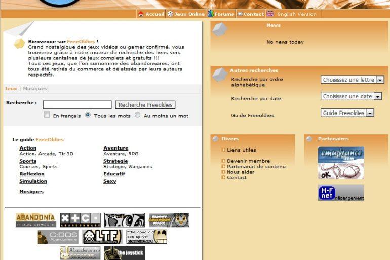 Free Oldies Site 770x513 - Free Oldies - Catalogue de jeux gratuits...