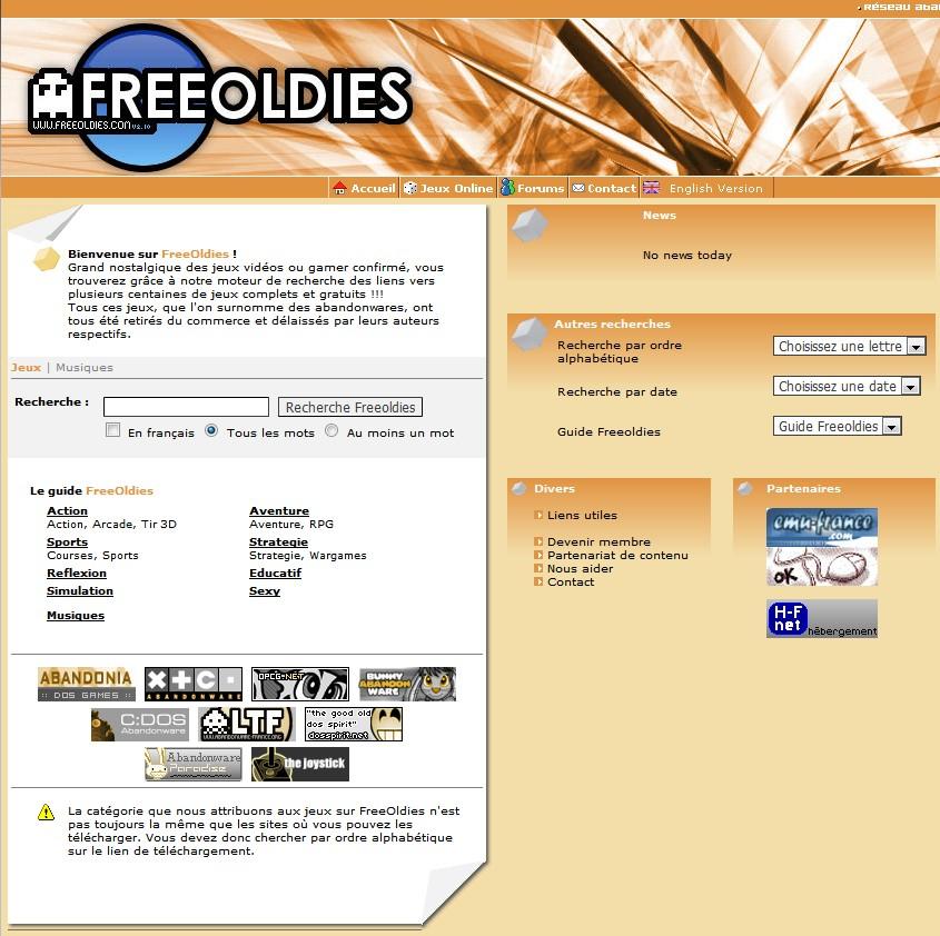Free Oldies Site - Free Oldies - Catalogue de jeux gratuits...