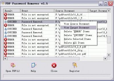 PDF Password Remover - ZIP, XLS, PDF : Faites sauter les protections !