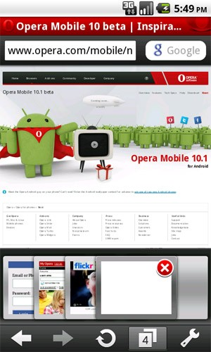 opera mobile 10.1 android