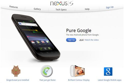 nexus S Website - [update] Google - Le Nexus S arrive...