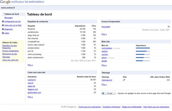 Google Webmaster Tools - SEO – Les meilleurs outils gratuits