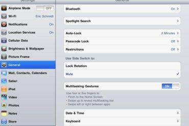 Parametres iOS 4.3