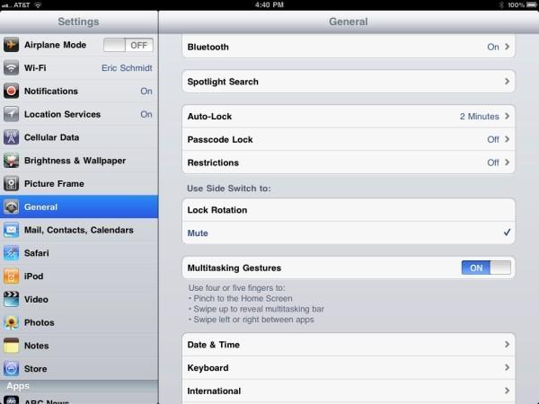 Parametres iOS 4.3 - iOS 4.3 beta arrive