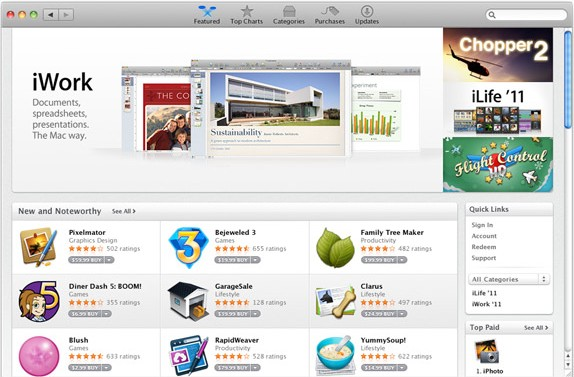 apps gallery featured - Mac App Store est disponible