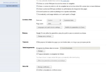 Options Chrome 11 370x247 - Google Chrome 11 est disponible en version bêta