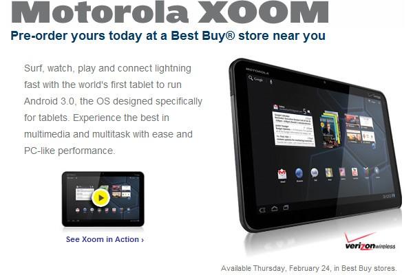 xoom - Motorola Xoom est disponible jeudi prochain