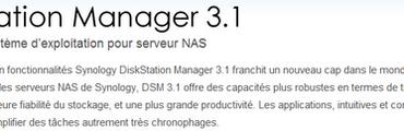 DSM 3.1 370x120 - Mise à jour chez Synology