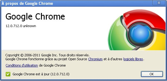 Google Chrome 12.0.712.0