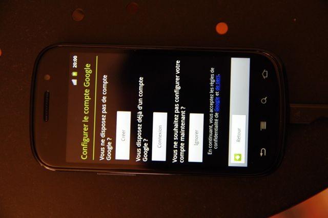Configuration Nexus S - 15 jours avec le Nexus S
