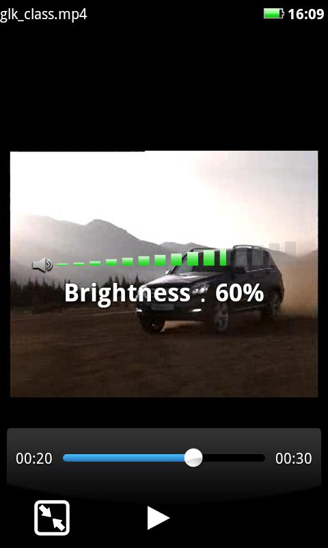 MoboPlayer Brightness - MoboPlayer - Nouveau lecteur vidéo pour Android
