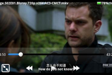 MoboPlayer Fringe 370x247 - MoboPlayer - Nouveau lecteur vidéo pour Android