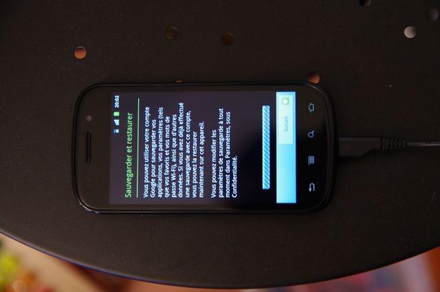 Sauvegarde et restauration Nexus S