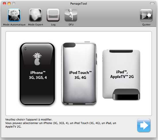 pwnagetool - PwnageTool Jailbreak l'iOS 4.3.1 Unthetered