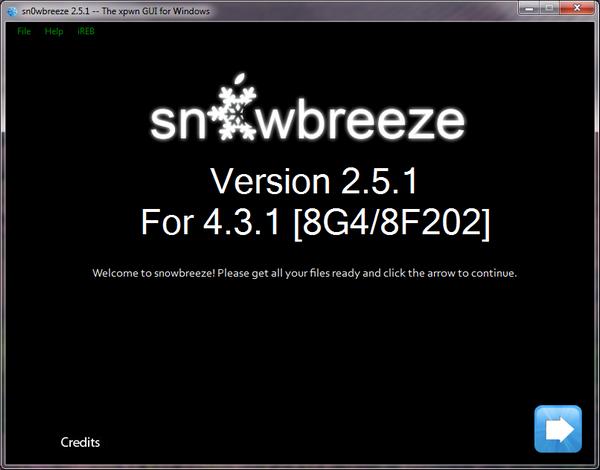 sn0wbreeze v2 - Mis à jour de l'iOS 4.3.2 en vue et Jailbreak en tout genre