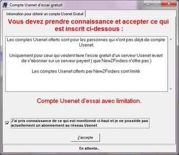 Accepter Compte Usenet gratuit - Accéder aux Newsgroups Binaires gratuitement