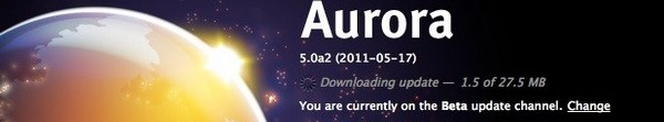 Firefox 5 Aurora Beta - Firefox 5 arrive en Beta