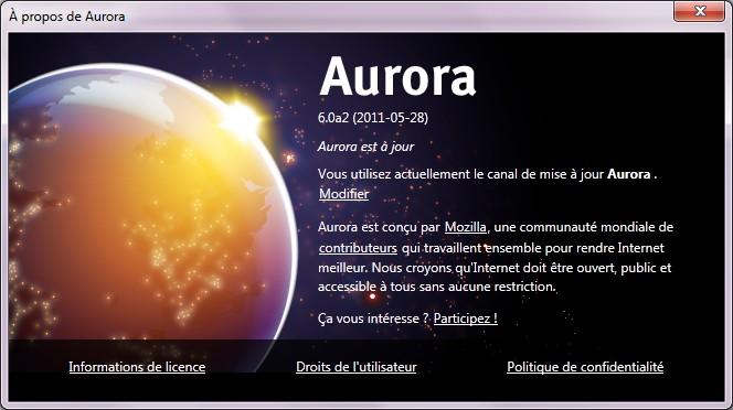 Firefox 6 alpha aurora - Firefox 6 débarque en Alpha