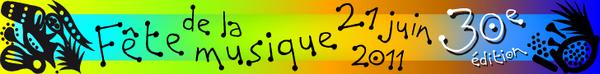 bandeau fete de la musique 2011 - OMG : Affiche pour la fête de la musique 2011