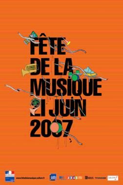 fete de la musique 2007 - OMG : Affiche pour la fête de la musique 2011
