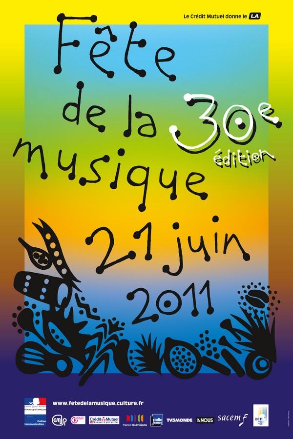 fete de la musique 2011 - OMG : Affiche pour la fête de la musique 2011