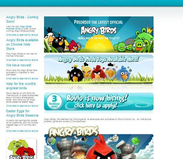 page accueil rovio 590x513 - Rovio veut entrer en Bourse