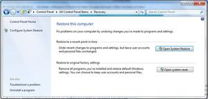 reinitialisation systeme windows 8