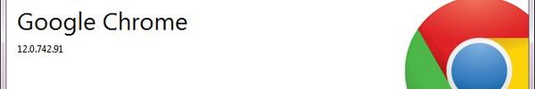 Bandeau Google chrome 12 - Arrivée de Google Chrome 12
