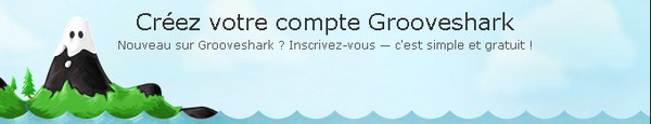 Bandeau Grooveshark - Ecouter/Télécharger de la musique gratuitement