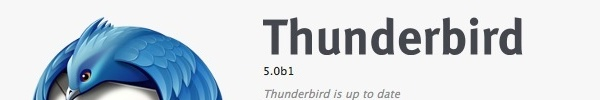 Bandeau ThunderBird 5.0 Beta