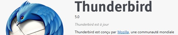 Bandeau Thunderbird 5 - Thunderbird 5.0 est disponible
