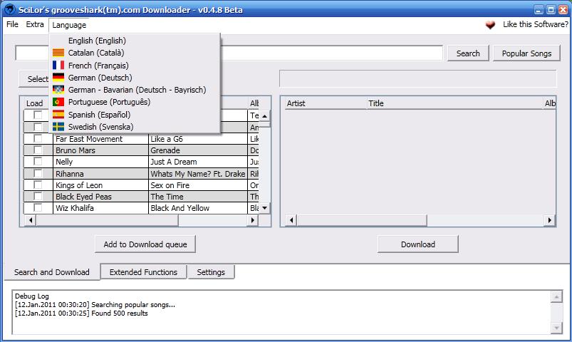 Grooveshark downloader - Ecouter/Télécharger de la musique gratuitement