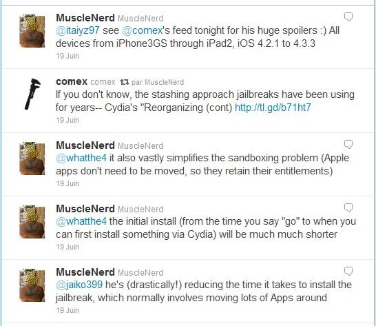 Tweets Jailbreak iPad 2 - Jailbreak iPad 2 en approche...