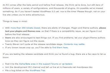 WordPress 3.2 RC1 370x247 - Wordpress 3.2 en approche...