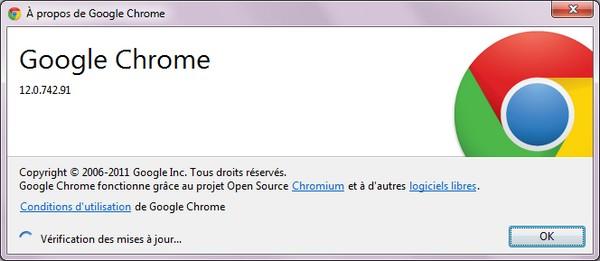 a propos google chrome 12 - Arrivée de Google Chrome 12