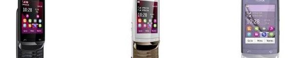 bandeau Nokia C2 02 C2 03 C2 06 - 3 nouveaux Nokia à prix abordable