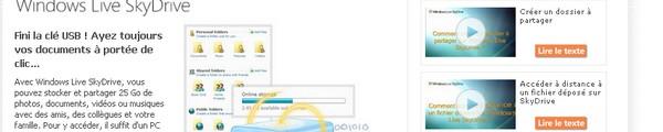 bandeau SkyDrive