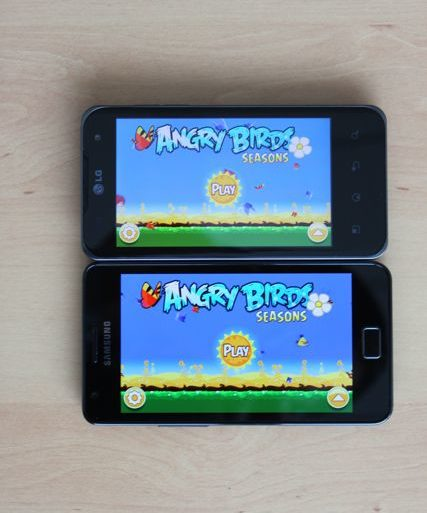 Angry Birds Samsung Galaxy S 2 LG Optimus 2X 427x513 - Galaxy S II : Meilleur smartphone du marché ?