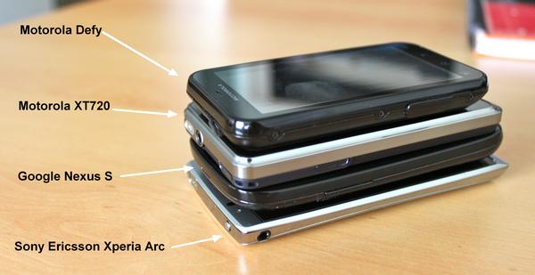 Comparaison Xperia Arc - Une semaine avec le Sony Ericsson Xperia ARC
