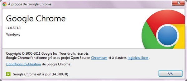 Google Chrome 14 beta  - Google Chrome 14 disponible