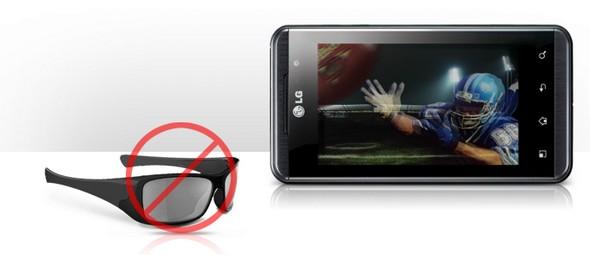 LG OPTIMUS 3D sans lunettes