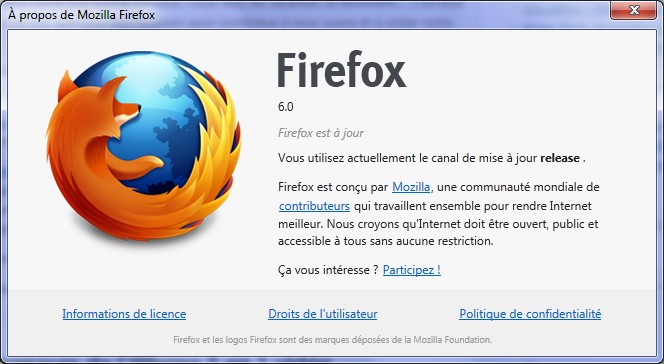 A propos Firefox 6 - Firefox 6 est disponible