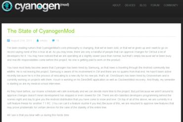 billet cyaogenmod 370x247 - Ralentissement des développements CyanogenMod